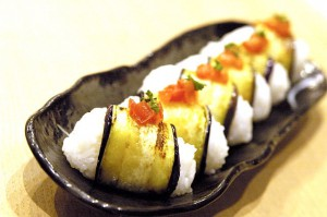 なすロール寿司