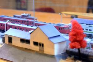 カウンタの鉄道模型