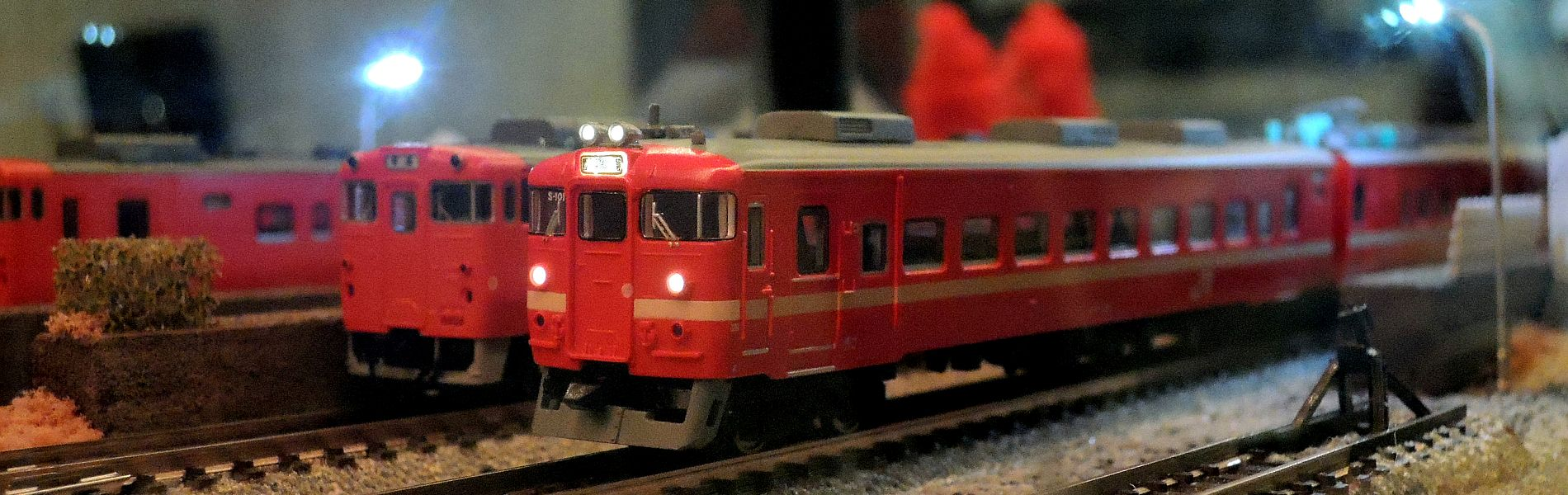 店内には鉄道模型